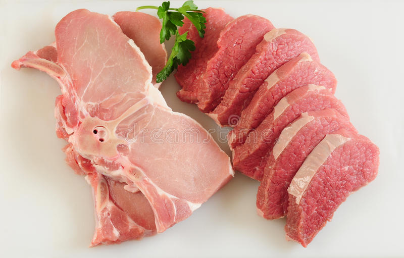 wołowiny wieprzowina obrazy royalty free