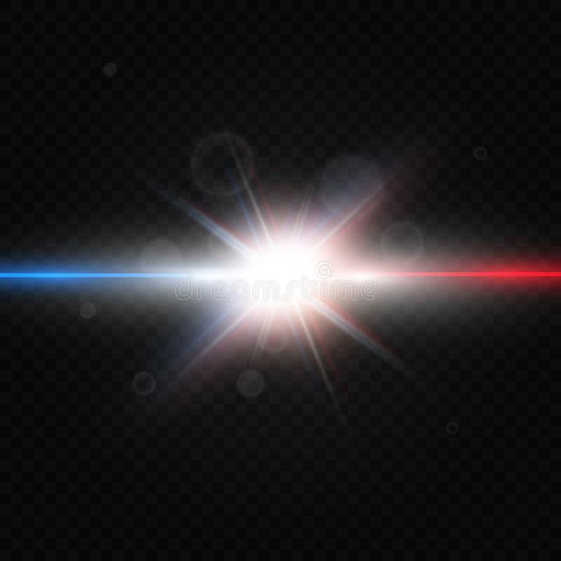 Wo颜色光在透明背景被隔绝 也corel凹道例证向量 向量例证