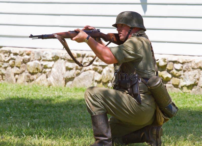 WO.II-het Slagweer invoeren royalty-vrije stock afbeeldingen
