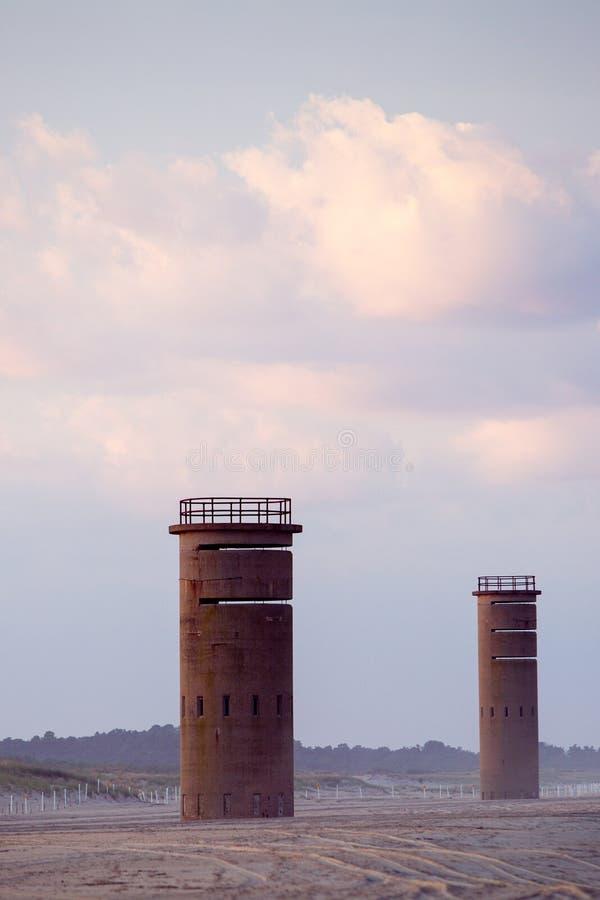 WO.II kijkt uit brandtorens royalty-vrije stock afbeelding