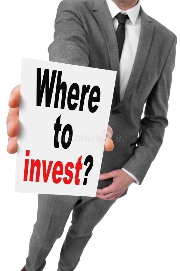 Wo man investiert? lizenzfreie stockfotografie
