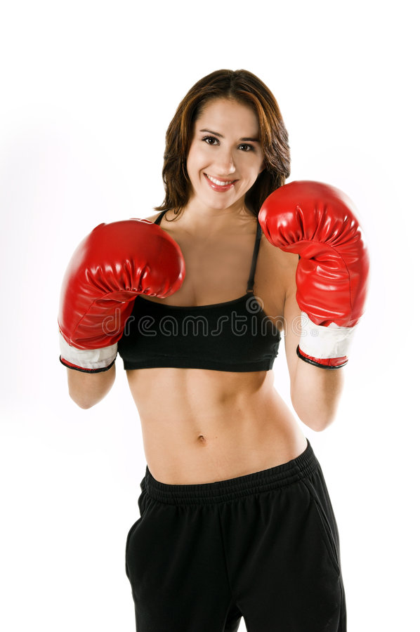 Woamn Boxer royalty free stock images