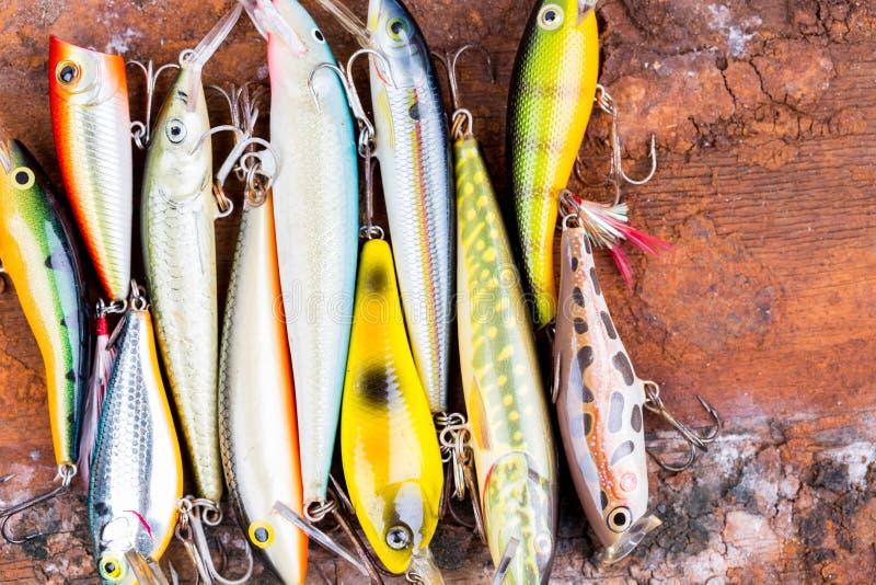 Wobbler da isca de pesca do close up do foco de Selectiv imagem de stock