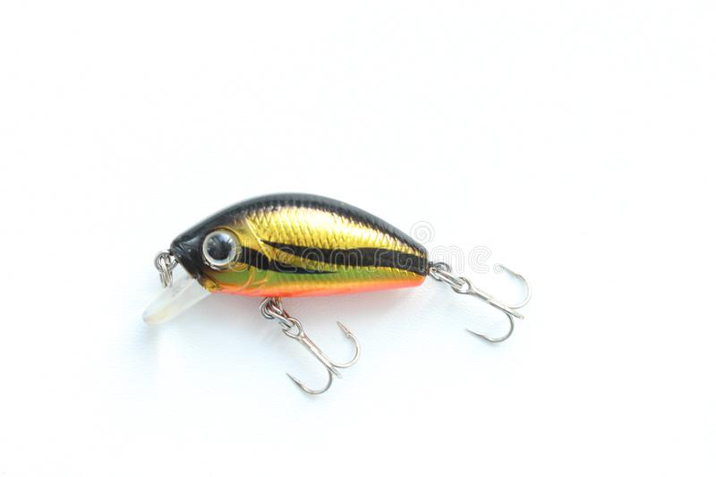 Wobbler. Lure with hooks. Best for fisherman. Object on white stock images