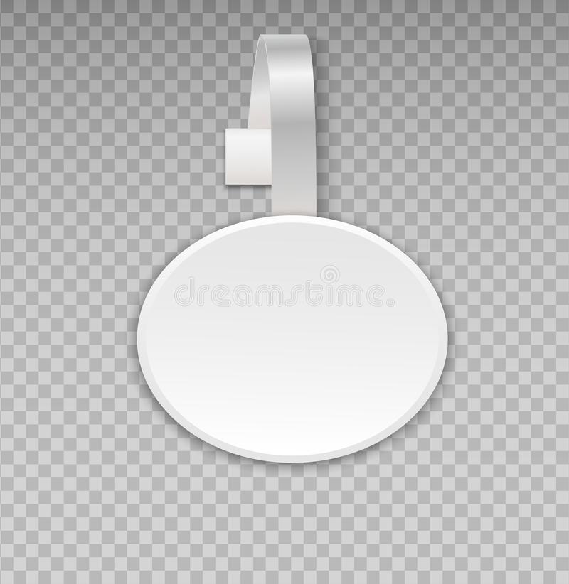 Free Wobbler Mockup With Transparent Background. Vector Blank White Round Shape Paper Plastic Advertising Shop Price Or Sales Point Tag Royalty Free Stock Photography - 104501027
