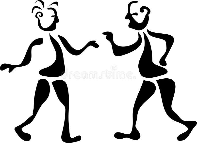 Download Wobbly Brush Men stock vector. Illustration of argue, mates - 101756