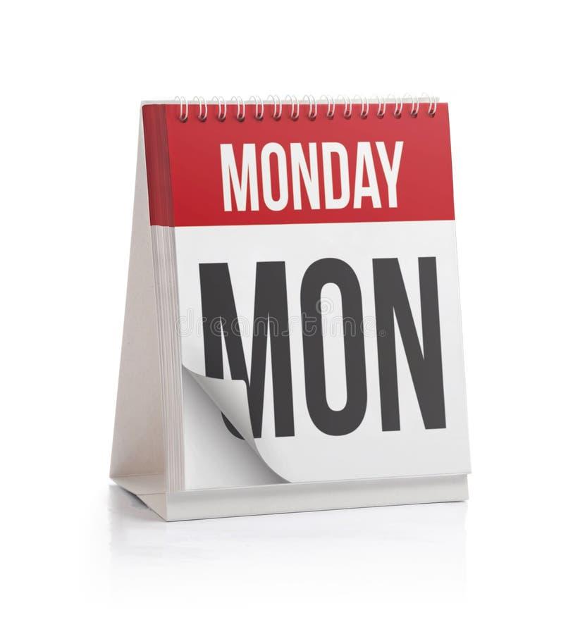 Wochen-Kalender, Montag-Seite lizenzfreie stockbilder