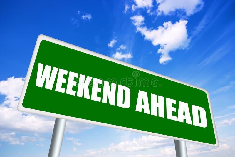 Wochenende voran lizenzfreie abbildung