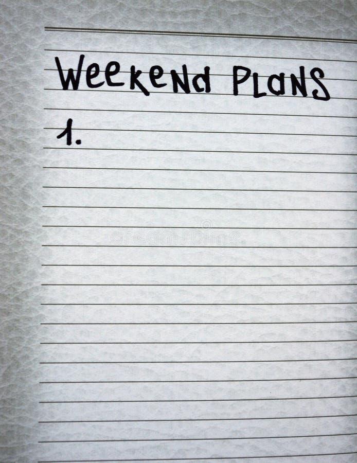 Wochenendenpläne lizenzfreies stockbild