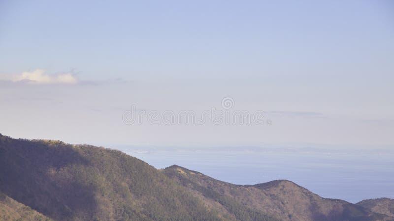 Wochenendenreise, Ansicht des Berges am owakudani Hakone, Japan lizenzfreies stockfoto