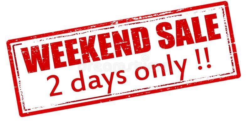 Wochenendenverkauf nur zwei Tage lizenzfreie abbildung
