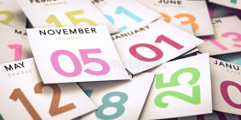 Wochentag, Kalender lizenzfreie abbildung