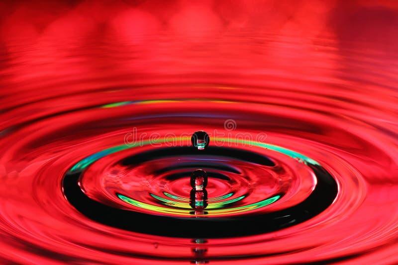 Wod kropel pluśnięcie Czochry i odbicia na powierzchni obrazy stock