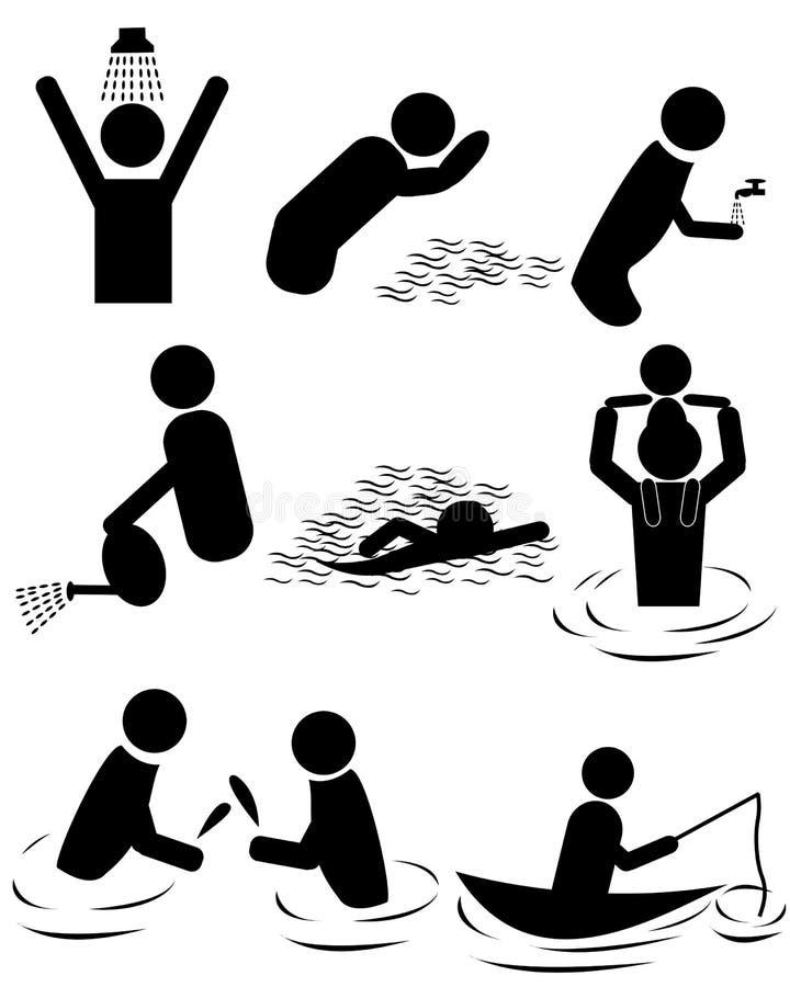 Woda royalty ilustracja