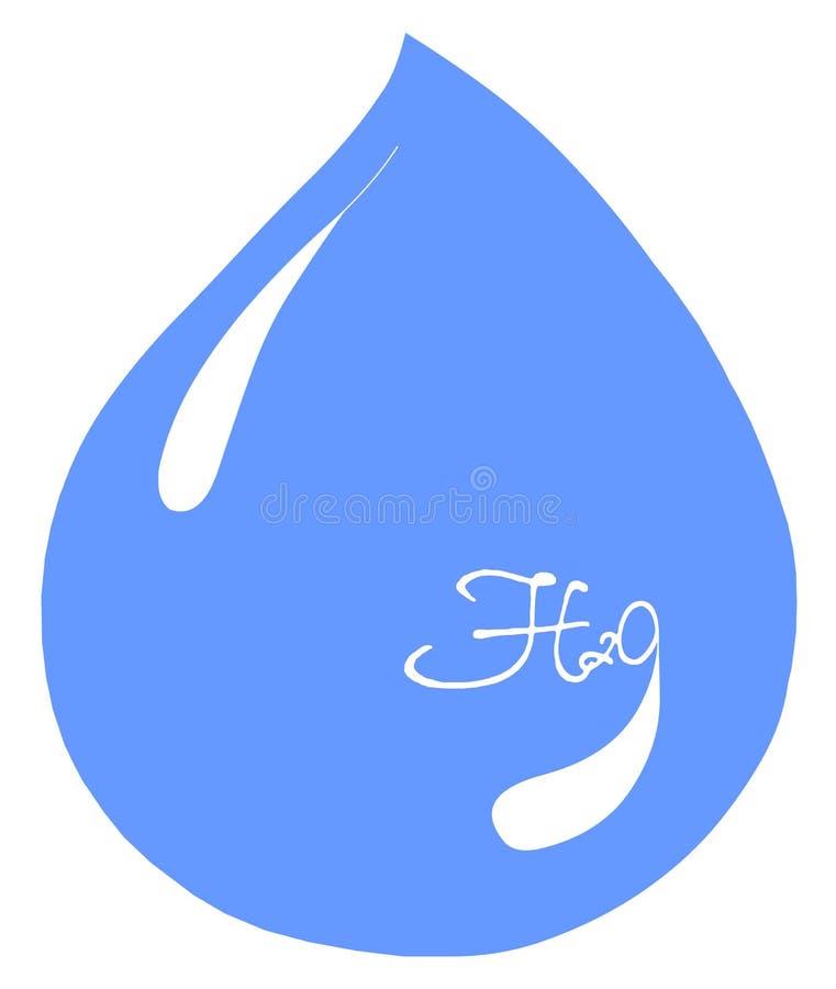 woda aqua h 2 o ilustracji