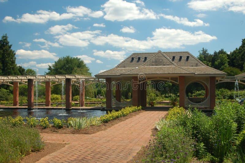 Woda botaniczny Ogród zdjęcia stock