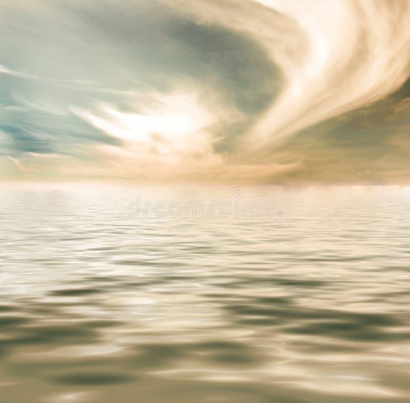 Woda i niebo obraz royalty free