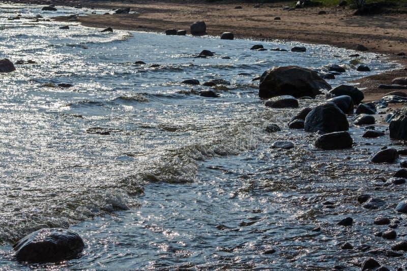 Woda i skały aphrodite miejsce narodzin cibory zbliżać paphos petra skał romiou tou fala ciężka miękka część zdjęcie stock