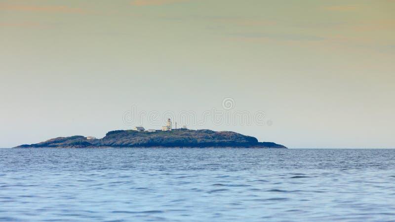 Woda i wyspy wokoło Bergen zdjęcia stock