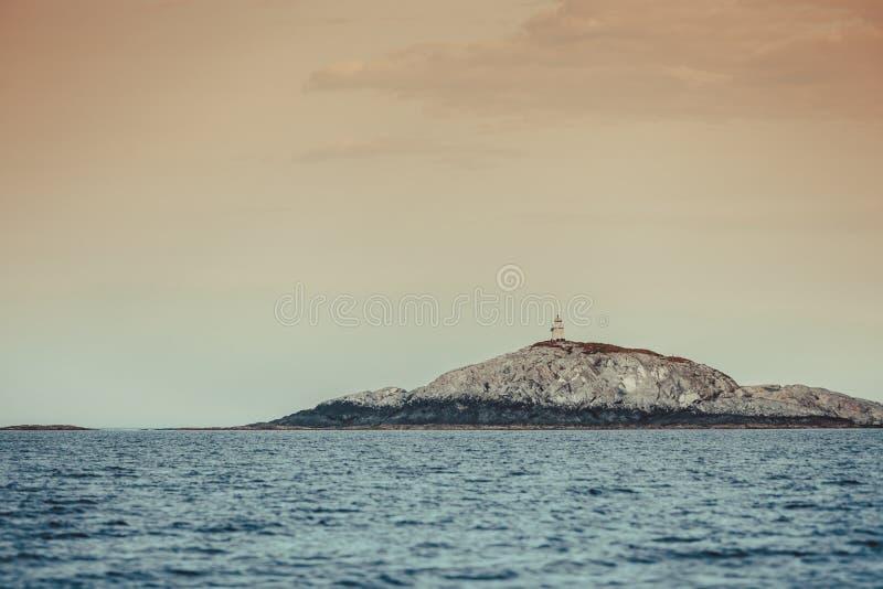 Woda i wyspy wokoło Bergen obrazy royalty free