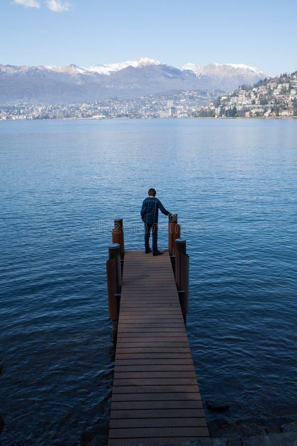 Woda, jezioro w Szwajcaria obraz stock
