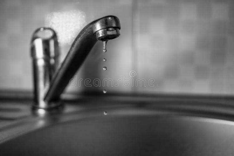 Woda kapie od klepnięcia zdjęcia stock