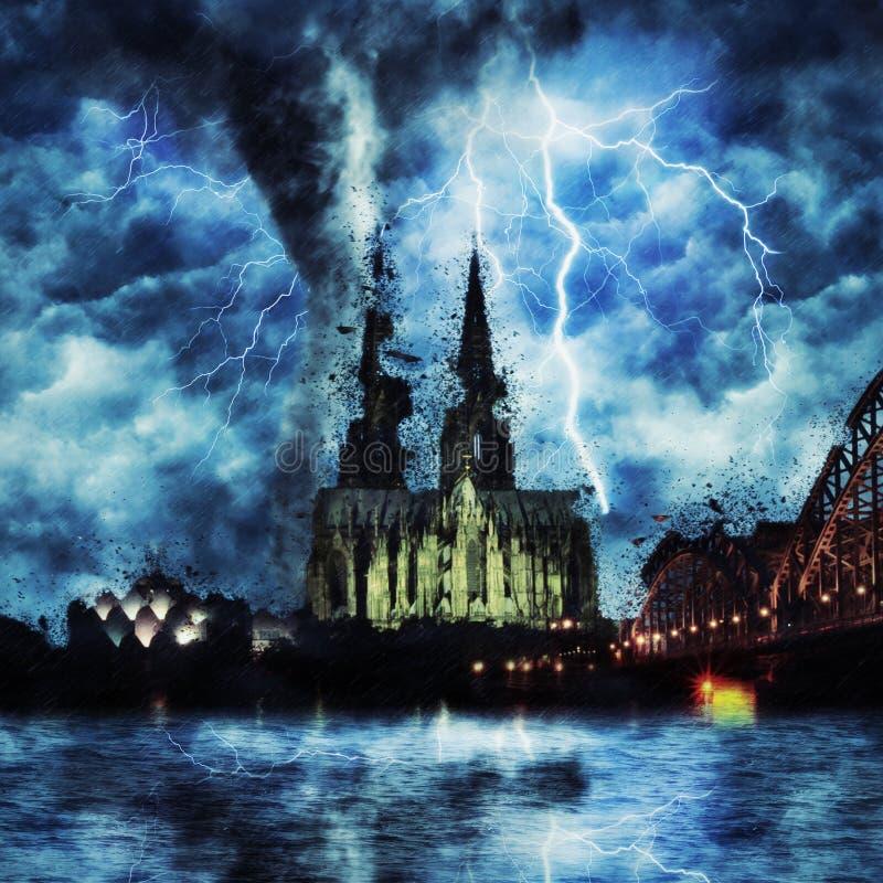 woda kolońska katedralny German obraz stock