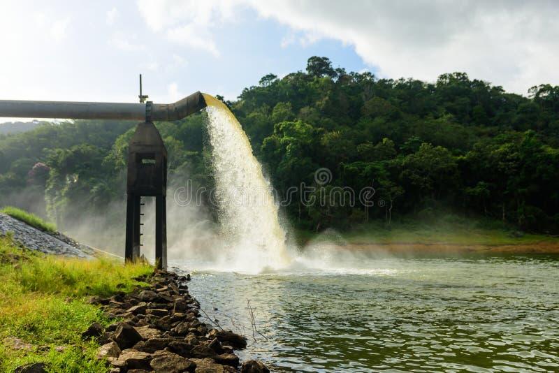 Woda od odcieku W produkci woda zdjęcie royalty free