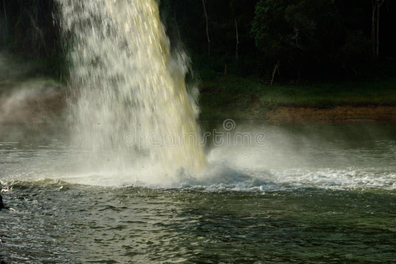 Woda od odcieku W produkci woda obraz royalty free