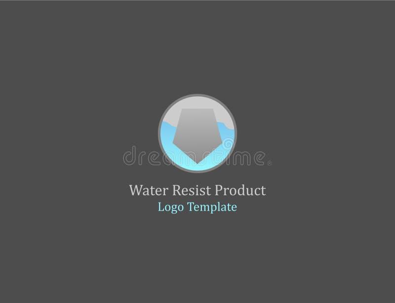 Woda opiera się loga szablon obraz stock