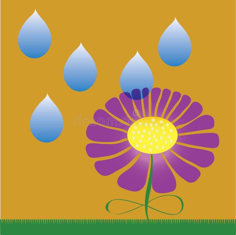 Woda opuszcza i lily kwiat royalty ilustracja