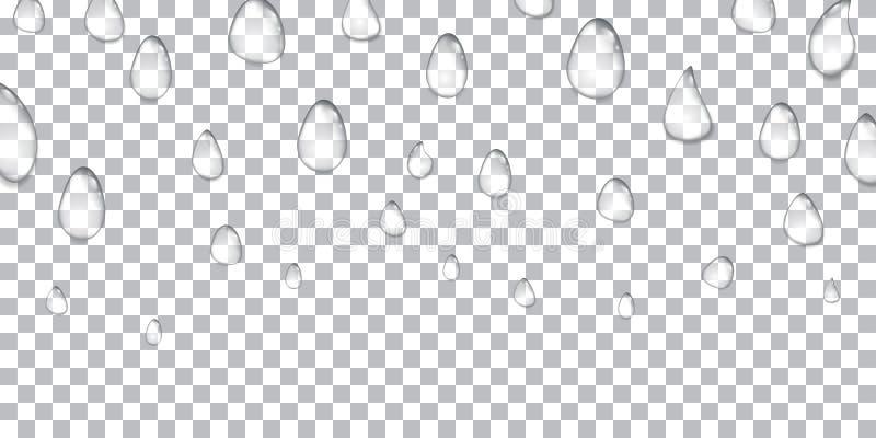 Woda opuszcza realistyczny odosobnionego na przejrzystym tle również zwrócić corel ilustracji wektora 10 eps ilustracji