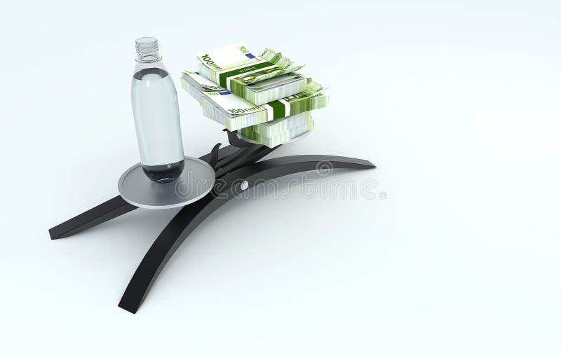 Woda pitna lub pieniądze zdjęcie royalty free