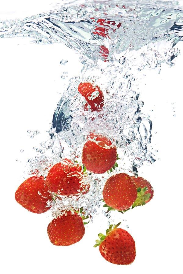 woda truskawki. zdjęcia royalty free