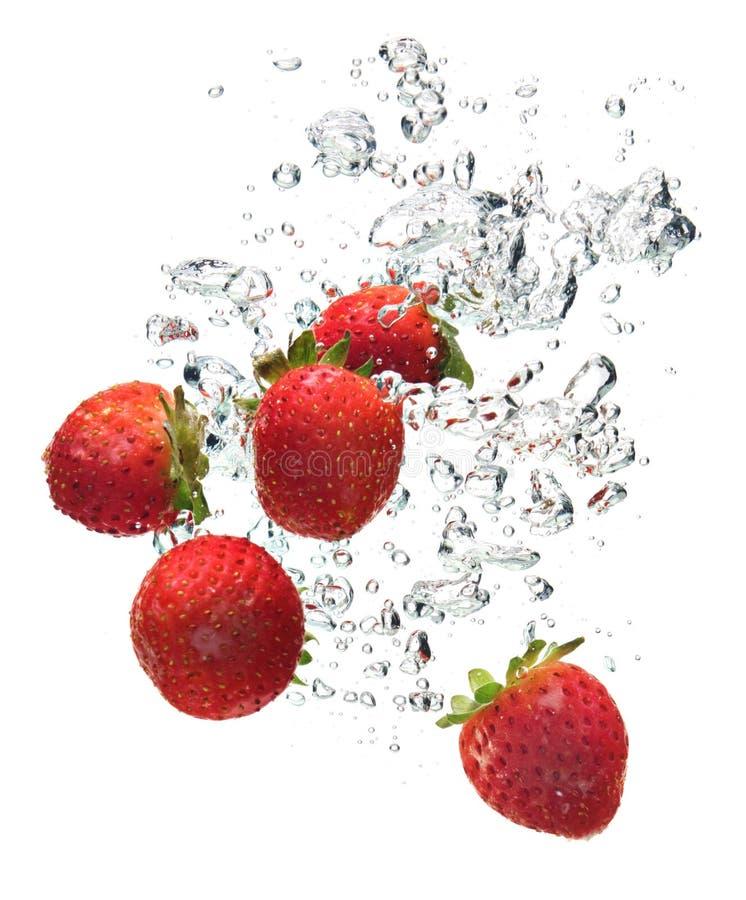 woda truskawki. zdjęcia stock