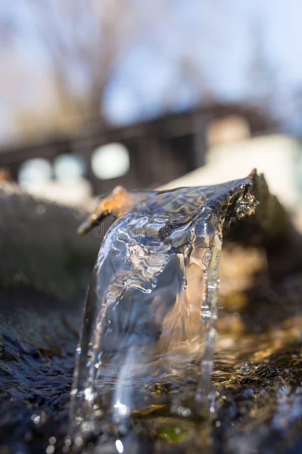 Woda w małej rzece fotografia royalty free