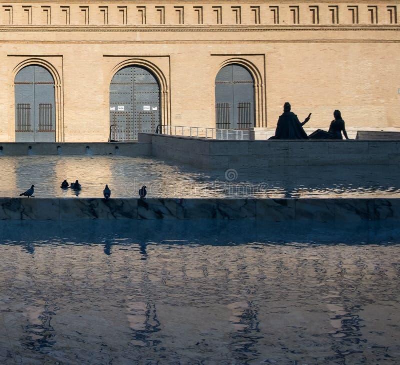 Woda w Saragossa fotografia royalty free