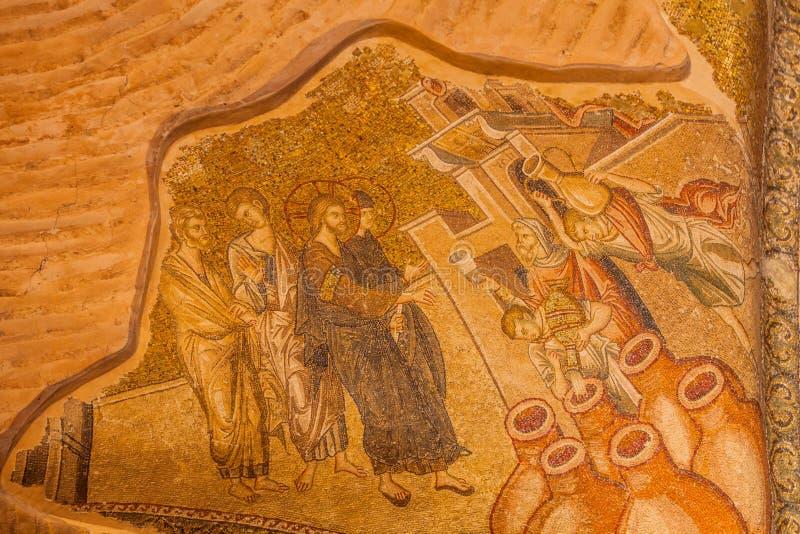 Woda W wino mozaikę fotografia stock