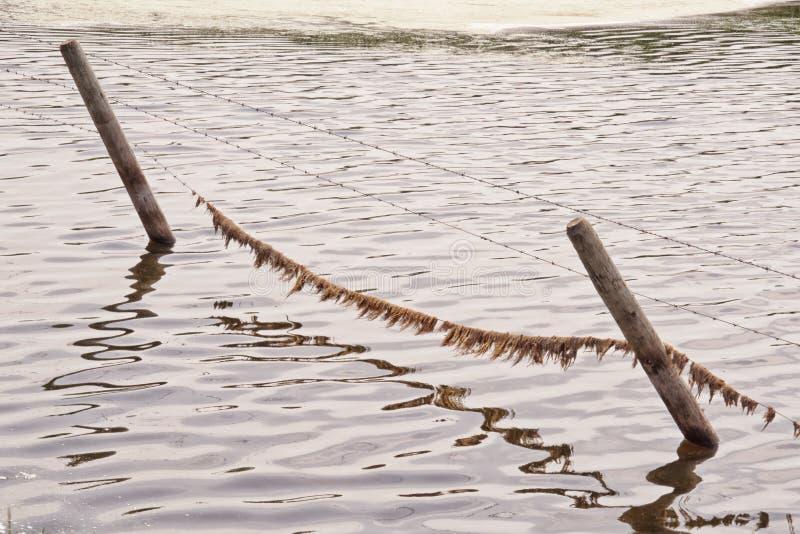 Woda Zanurzający ogrodzenie fotografia stock