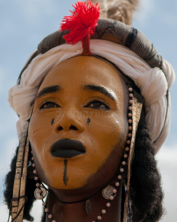 Wodaabe man, Niger arkivbilder