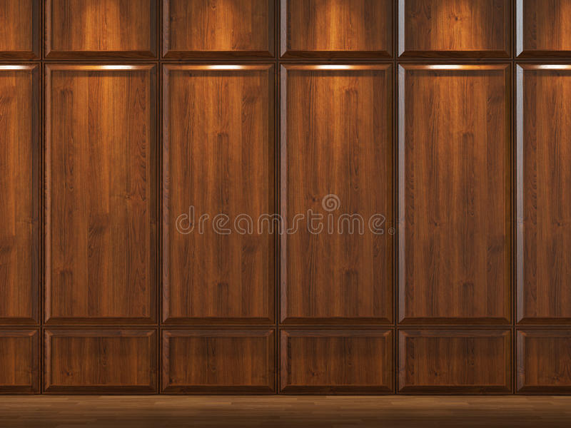 Wodd cladding background. Interior background of wood cladding wall royalty free illustration
