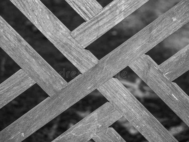 Woden ekran robić od tekowego drewnianego seansu krzyża wzoru obraz stock