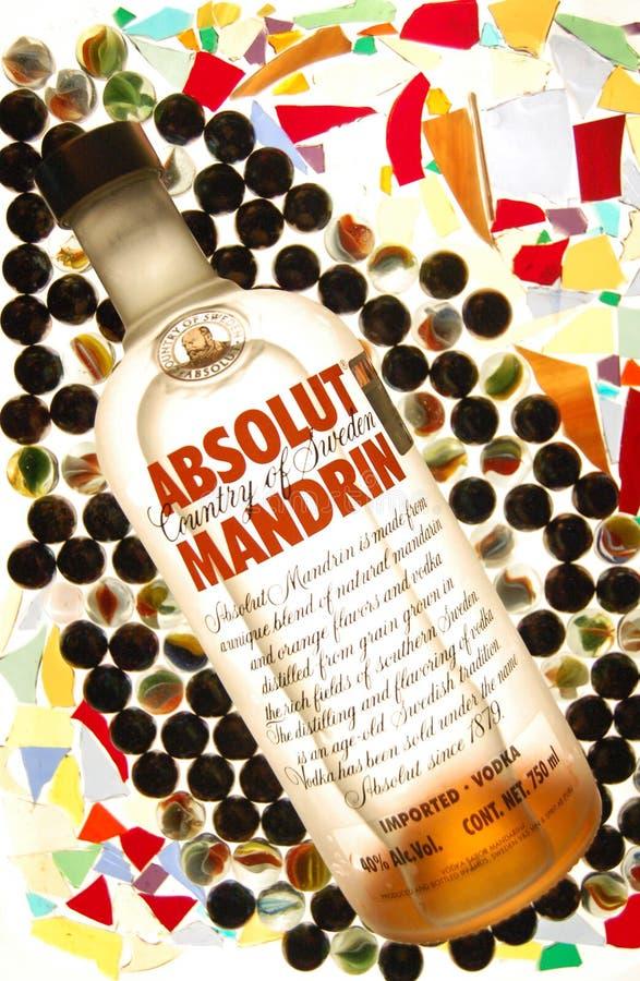 Wodka absolut stockfotografie