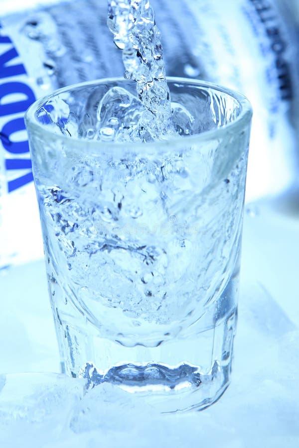 Wodka & ijs royalty-vrije stock foto