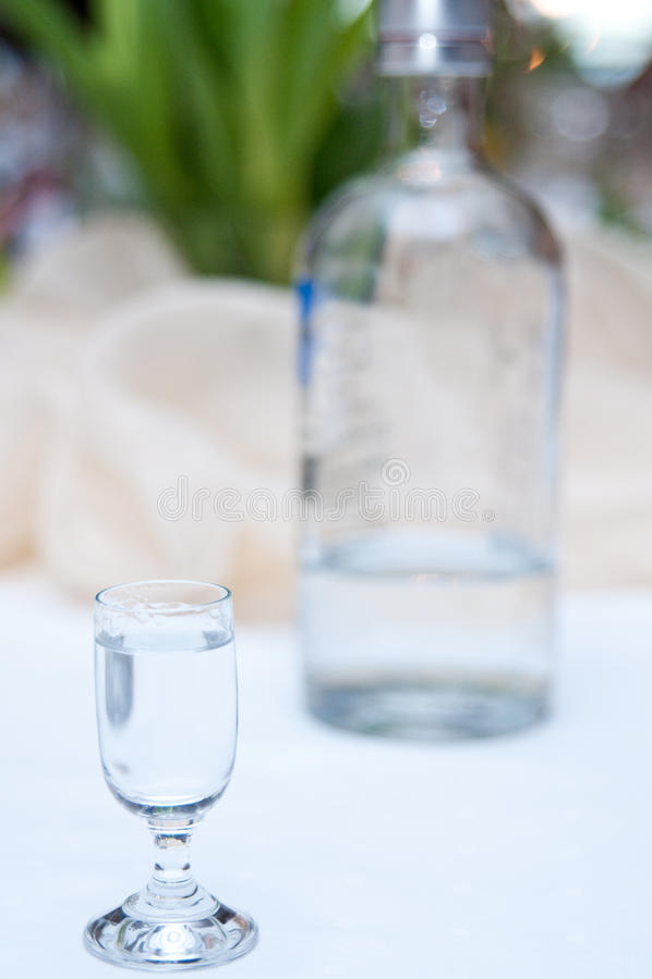 Wodka im Glas lizenzfreies stockfoto