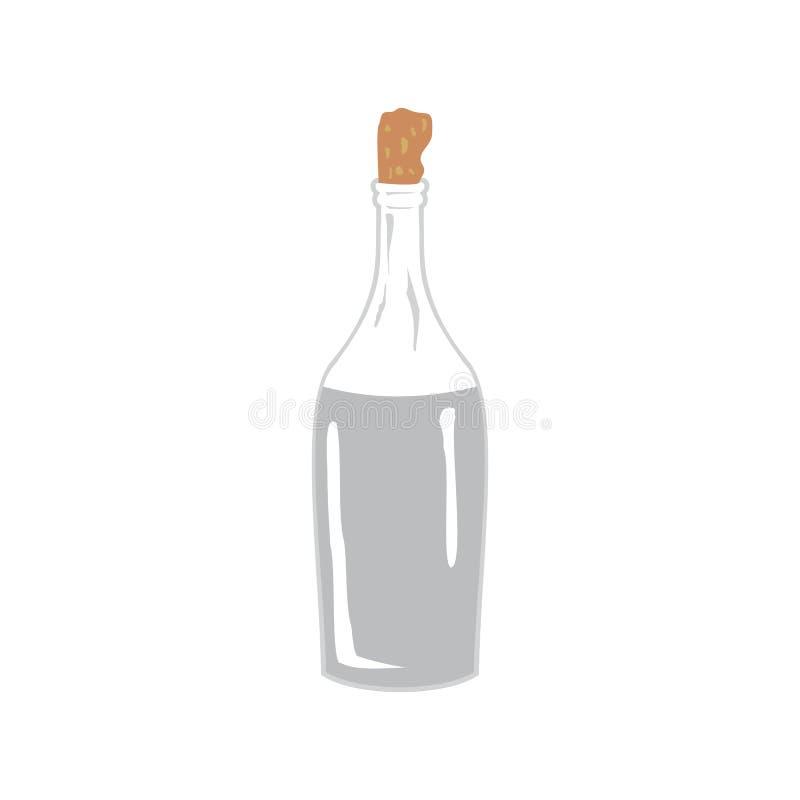 Wodka, Mondenschein in der Flasche vektor abbildung