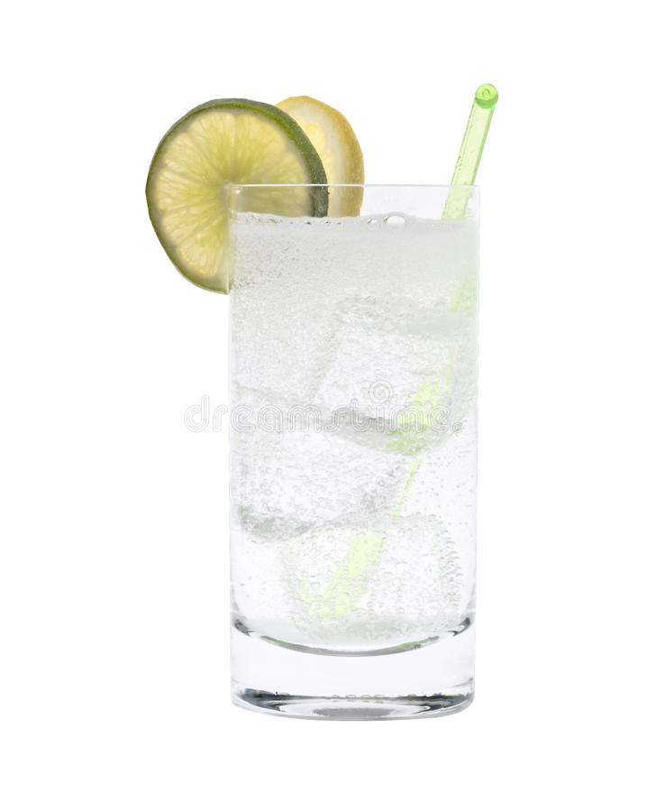 Wodka-oder Gin-Stärkungsmittel-Cocktail lizenzfreie stockfotografie
