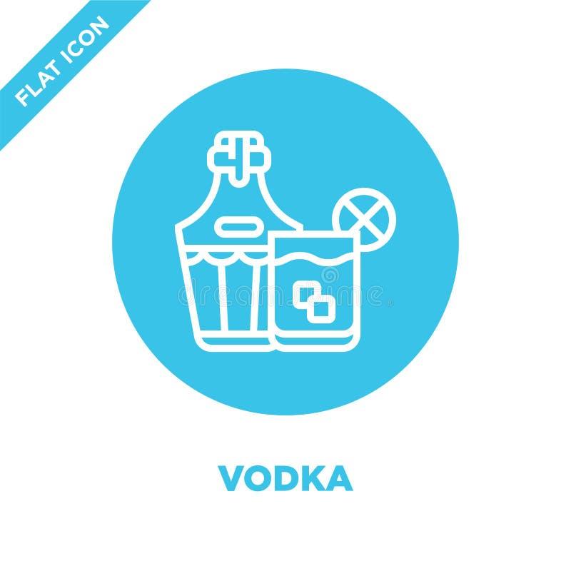 Wodkaikonenvektor von der Getränkesammlung Dünne Linie Wodkaentwurfsikonen-Vektorillustration Lineares Symbol für Gebrauch auf Ne vektor abbildung