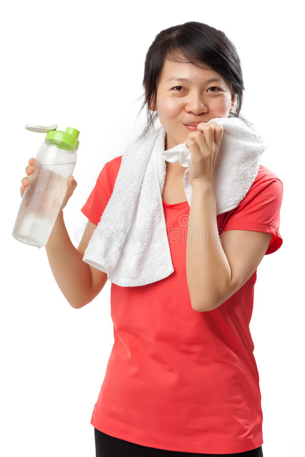 wodna ćwiczenie TARGET2318_0_ kobieta fotografia stock