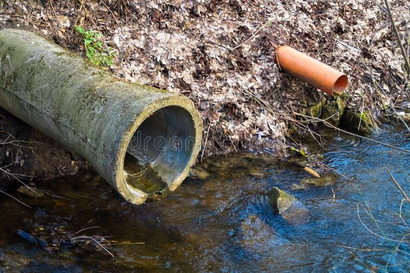 Wodna ściekowa kanalizacja fotografia royalty free